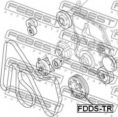 Febest FDDS-TR - Rihmaratas,väntvõll multiparts.ee
