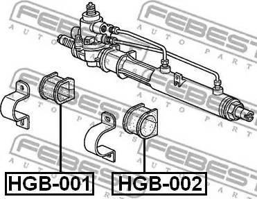 Febest HGB-001 - Paigutus,rooliajam multiparts.ee
