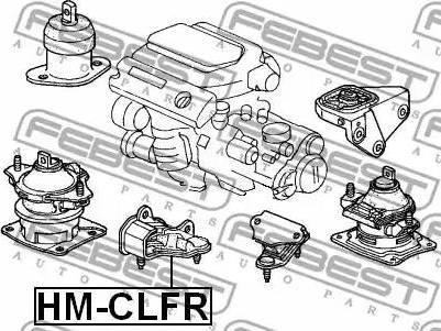 Febest HM-CLFR - Kinnitus,automaatkäigukast multiparts.ee