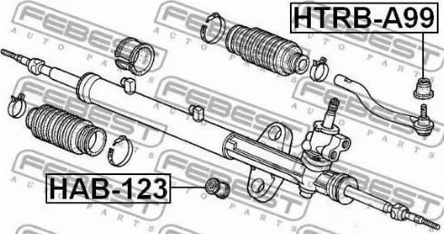 Febest HTRB-A99 - Remondikomplekt, rooliots multiparts.ee