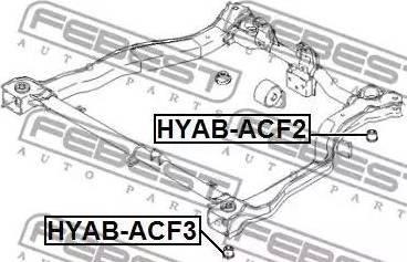 Febest HYAB-ACF3 - Kinnitus,sillatala multiparts.ee