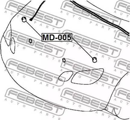 Febest MD-005 - Puhver,Mootorikapott multiparts.ee