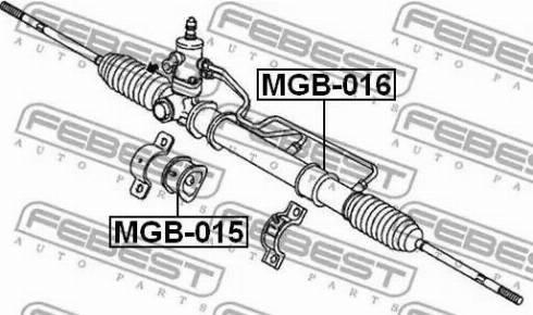 Febest MGB-016 - Paigutus,rooliajam multiparts.ee