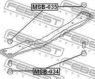 Febest MSB-034 - Kinnitus,sillatala multiparts.ee