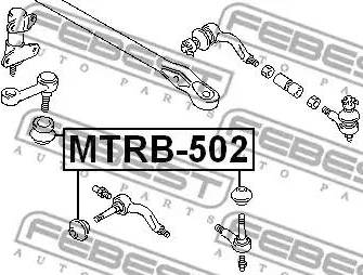 Febest MTRB-502 - Remondikomplekt, rooliots multiparts.ee