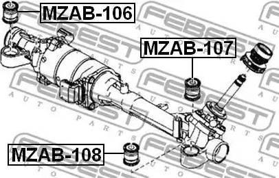 Febest MZAB-108 - Paigutus,rooliajam multiparts.ee