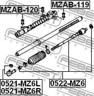 Febest MZAB-120 - Paigutus,rooliajam multiparts.ee