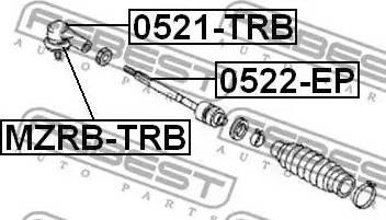 Febest MZRB-TRB - Remondikomplekt, rooliots multiparts.ee