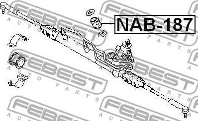 Febest NAB-187 - Paigutus,rooliajam multiparts.ee