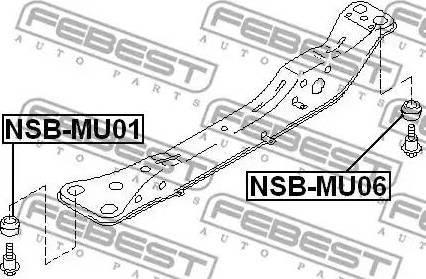 Febest NSB-MU01 - Kinnitus,sillatala multiparts.ee