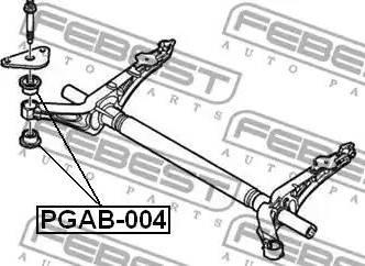 Febest PGAB-004 - Kinnitus,sillatala multiparts.ee