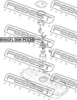Febest RINGFL-009-PCS10 - Tihend,kütuseetteandja multiparts.ee