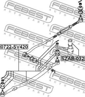 Febest SZAB-032 - Puks, roolivarras multiparts.ee