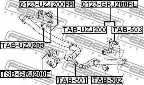 Febest TAB-503 - Paigutus,stabilisaator multiparts.ee