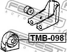 Febest TMB-098 - Paigutus,Mootor multiparts.ee