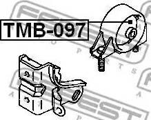 Febest TMB-097 - Paigutus,Mootor multiparts.ee
