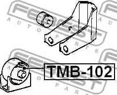Febest TMB-102 - Paigutus,Mootor multiparts.ee