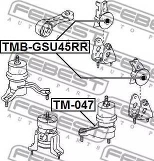 Febest TMB-GSU45RR - Paigutus,Mootor multiparts.ee