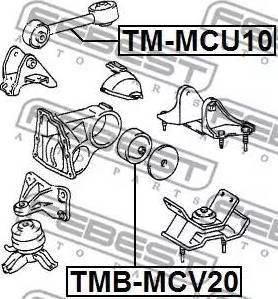 Febest TMB-MCV20 - Paigutus,Mootor multiparts.ee