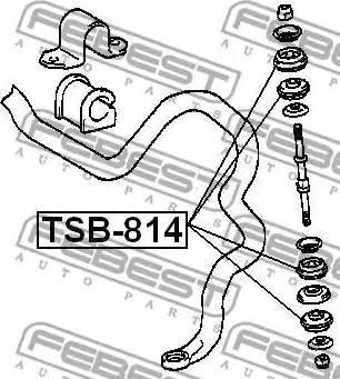 Febest TSB-814 - Paigutus,stabilisaator multiparts.ee