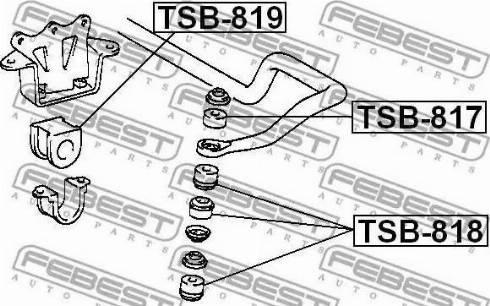 Febest TSB-817 - Paigutus,stabilisaator multiparts.ee