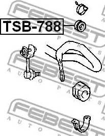 Febest TSB-788 - Paigutus,stabilisaator multiparts.ee