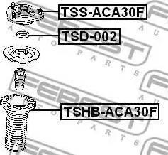 Febest TSD-002 - Kinnitus,amordid multiparts.ee
