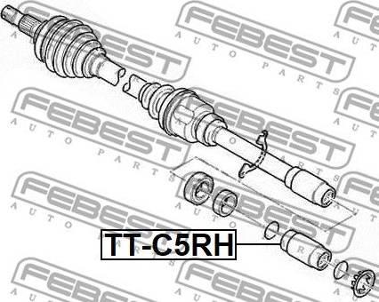 Febest TT-C5RH - Liigendlaager, veovõll multiparts.ee