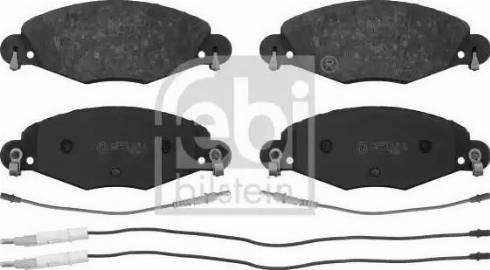 Febi Bilstein 16419 - Piduriklotsi komplekt,ketaspidur multiparts.ee