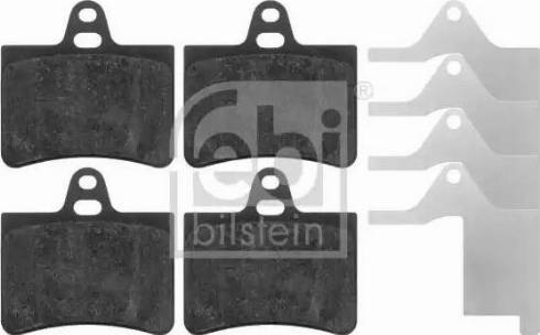 Febi Bilstein 16420 - Piduriklotsi komplekt,ketaspidur multiparts.ee