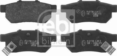 Febi Bilstein 16301 - Piduriklotsi komplekt,ketaspidur multiparts.ee