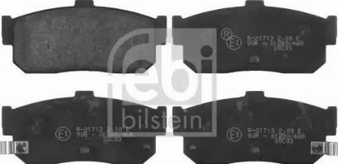 Febi Bilstein 16272 - Piduriklotsi komplekt,ketaspidur multiparts.ee