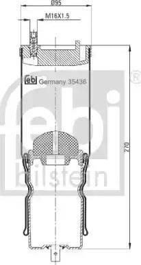 Febi Bilstein 35436 - Lõõts,kabiinikinnitus multiparts.ee