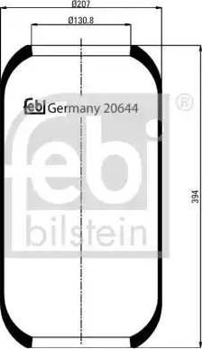 Febi Bilstein 20644 - Lõõts,õhkvedrustus multiparts.ee
