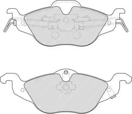 Ferodo FDB1293 - Piduriklotsi komplekt,ketaspidur multiparts.ee