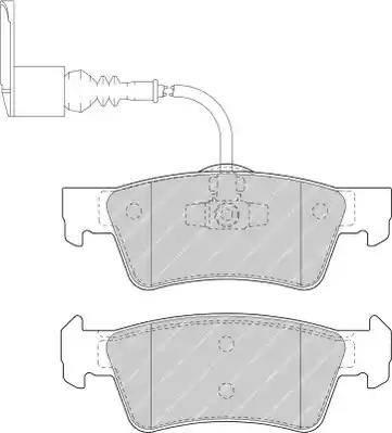 Ferodo FVR1647 - Piduriklotsi komplekt,ketaspidur multiparts.ee