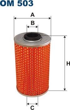 Filtron OM 503 - Hüdraulikafilter,roolimine multiparts.ee