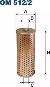 Filtron OM 512/2 - Hüdraulikafilter,roolimine multiparts.ee