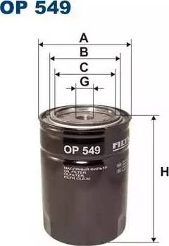 Filtron OP 549 - Filter,tööhüdraulika multiparts.ee