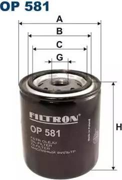 Filtron OP 581 - Filter,tööhüdraulika multiparts.ee