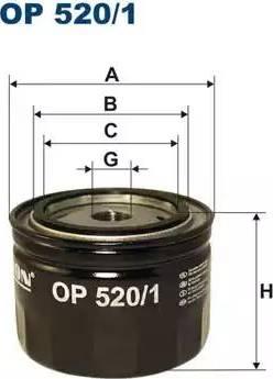 Filtron OP 520/1 - Hüdraulikafilter,automaatkäigukast multiparts.ee
