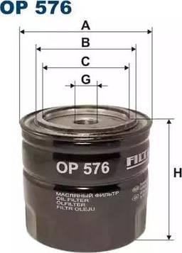 Filtron OP 576 - Filter,tööhüdraulika multiparts.ee