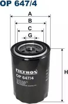 Filtron OP 647/4 - Filter,tööhüdraulika multiparts.ee