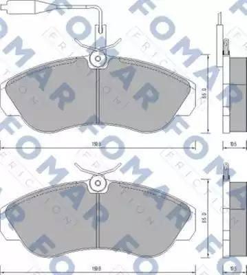 FOMAR Friction FO 629681 - Piduriklotsi komplekt,ketaspidur multiparts.ee