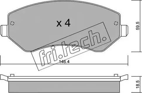 Fri.Tech. 540.0 - Piduriklotsi komplekt,ketaspidur multiparts.ee