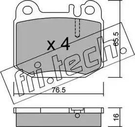 Fri.Tech. 580.0 - Piduriklotsi komplekt,ketaspidur multiparts.ee