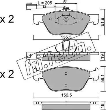 Fri.Tech. 085.1 - Piduriklotsi komplekt,ketaspidur multiparts.ee