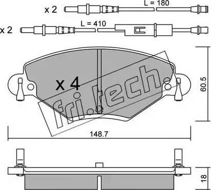 Fri.Tech. 340.0 - Piduriklotsi komplekt,ketaspidur multiparts.ee