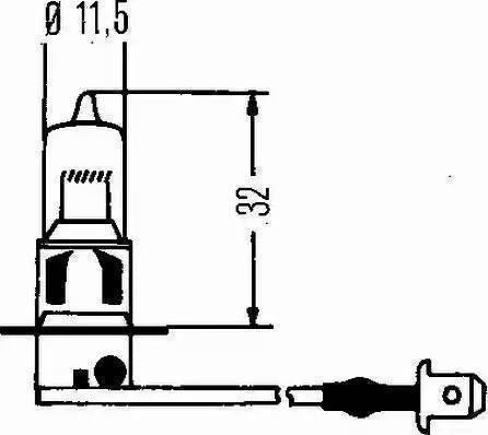 HELLA 8GH 002 090-151 - Hõõgpirn, esituli multiparts.ee