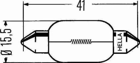 HELLA 8GM 002 091-121 - Hõõgpirn, piduri-/tagatuli multiparts.ee